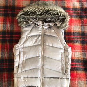 The North Face puffer vest faux fur